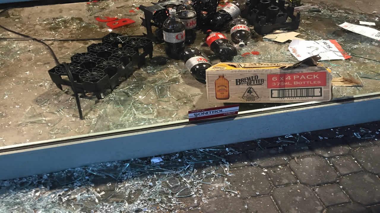 Oaklands BevMo store general manager says 23 windows were broken.