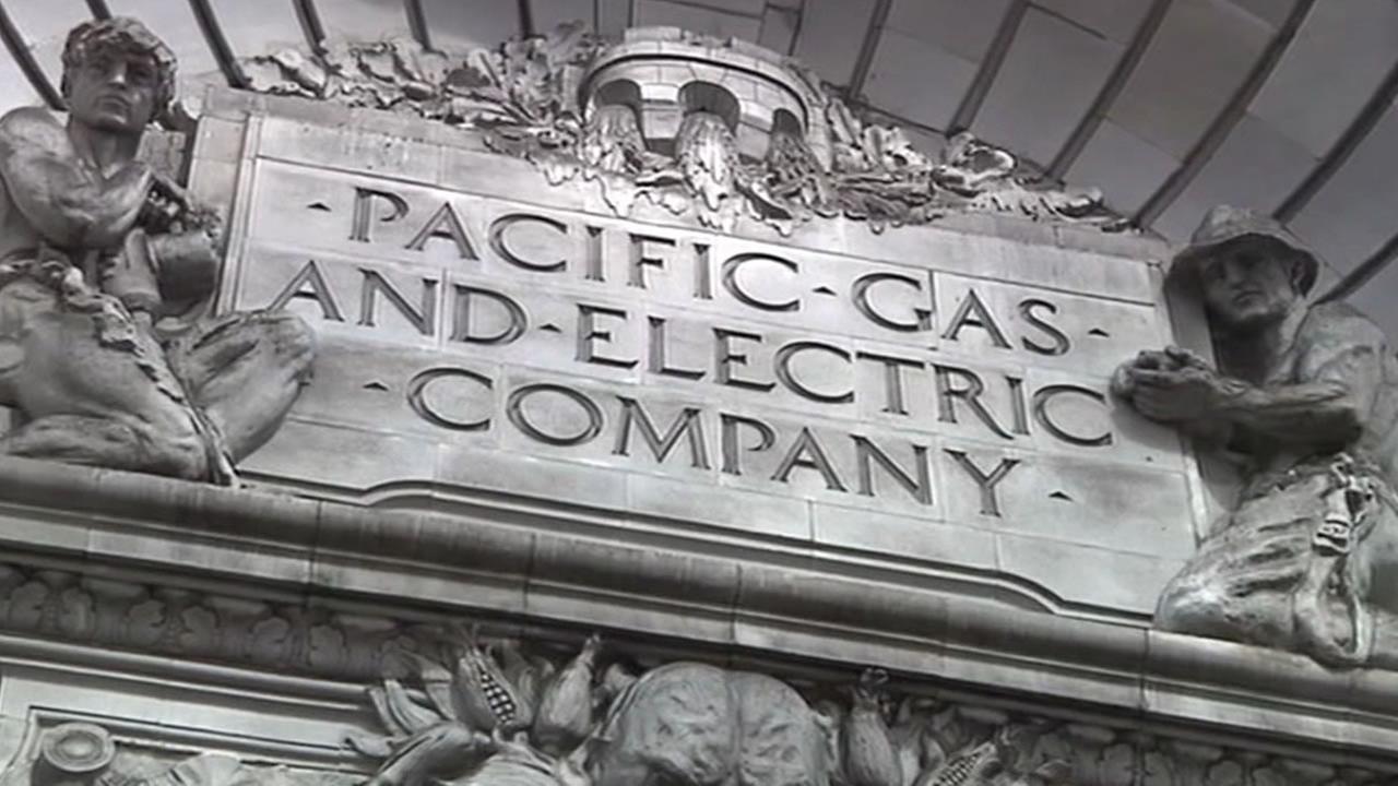 PG&E sign in San Francisco