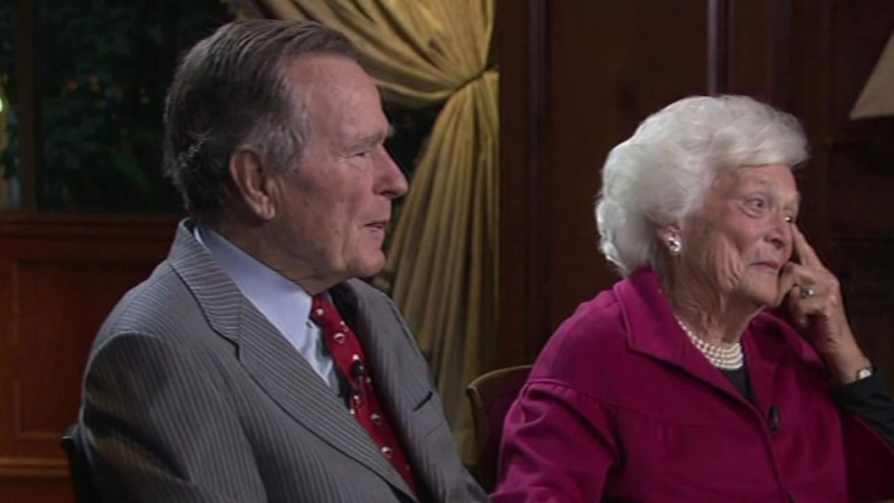 George H.W. and Barbara Bush.