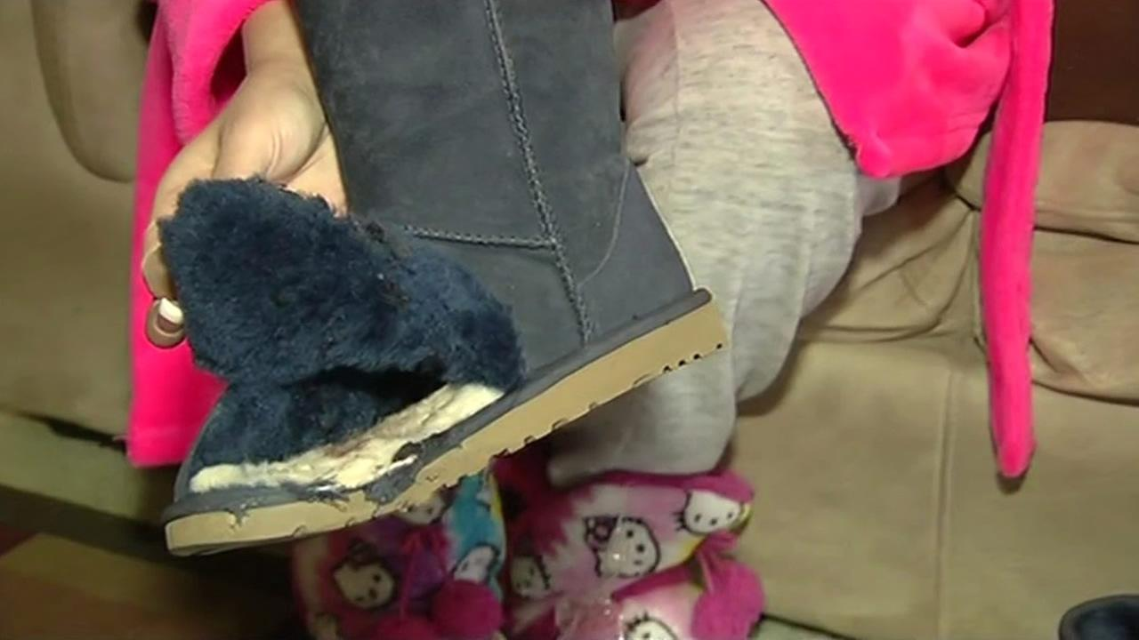 Doctors say Ugg boots may have saved 19-year-old Alyssa Padgett Gambinos foot from amputation after a car jumped a curb and drove into a Macys in Newark on Jan. 14, 2015.