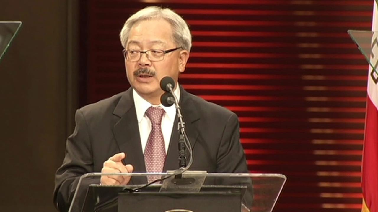 San Francisco Mayor Ed Lee delivers the State of the City speech on Thursday, Jan. 15, 2015.