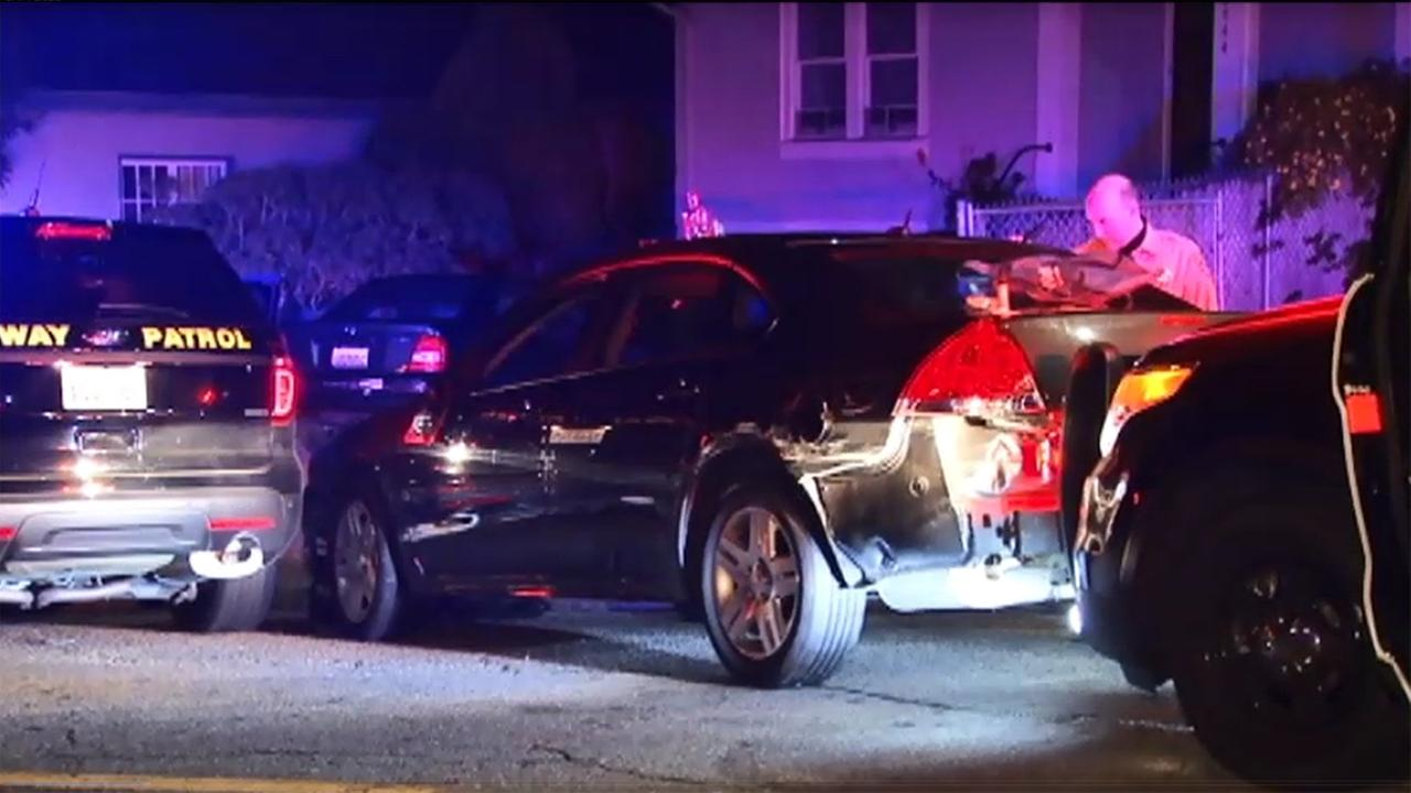 CHP chase ends in crash in Oakland.