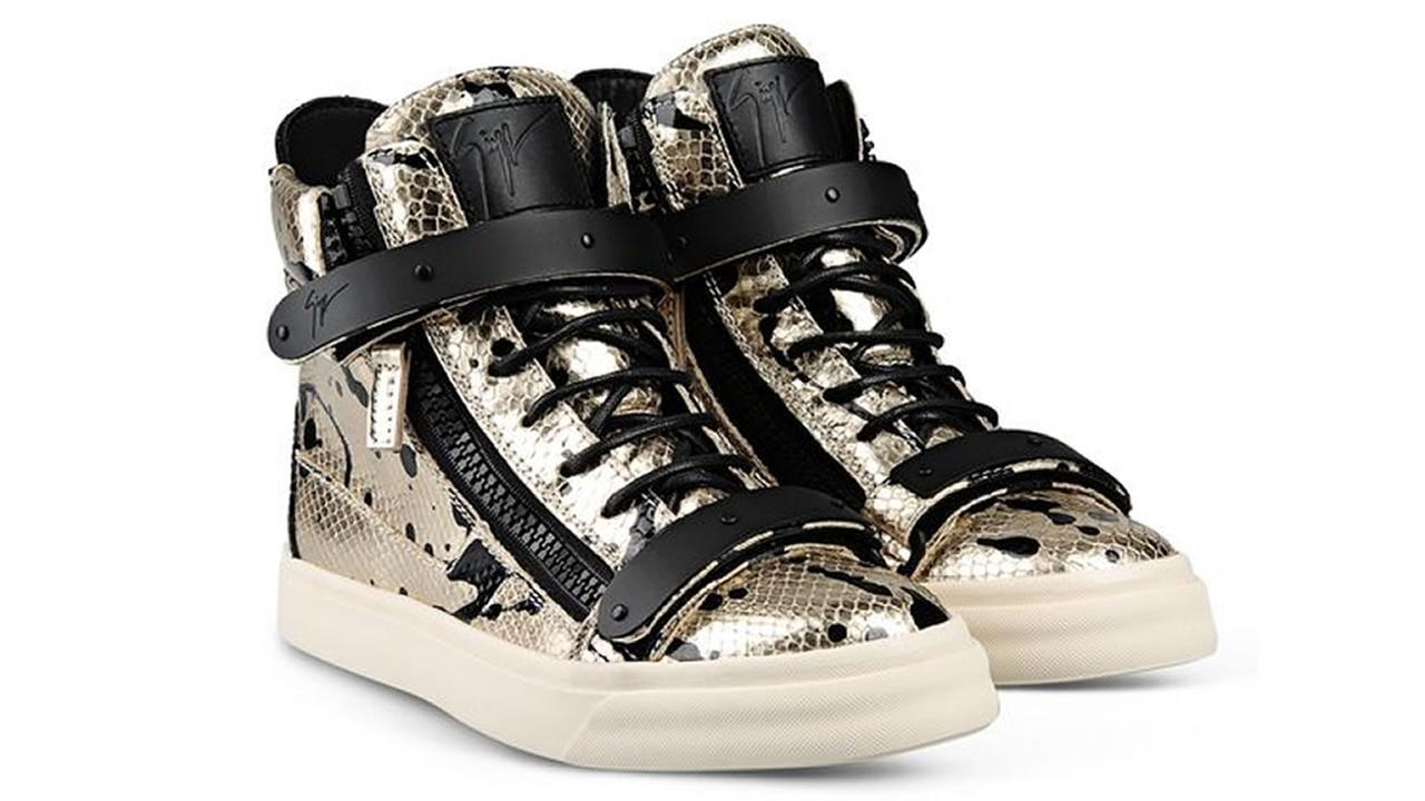 Several Guiseppe Zanotti hi-top sneakers were stolen from a DSW in San Franciscos Union Square Tuesday, Feb. 3.