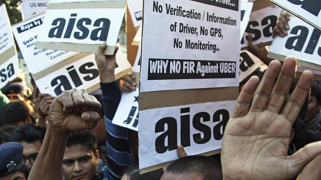 Uber protest in India