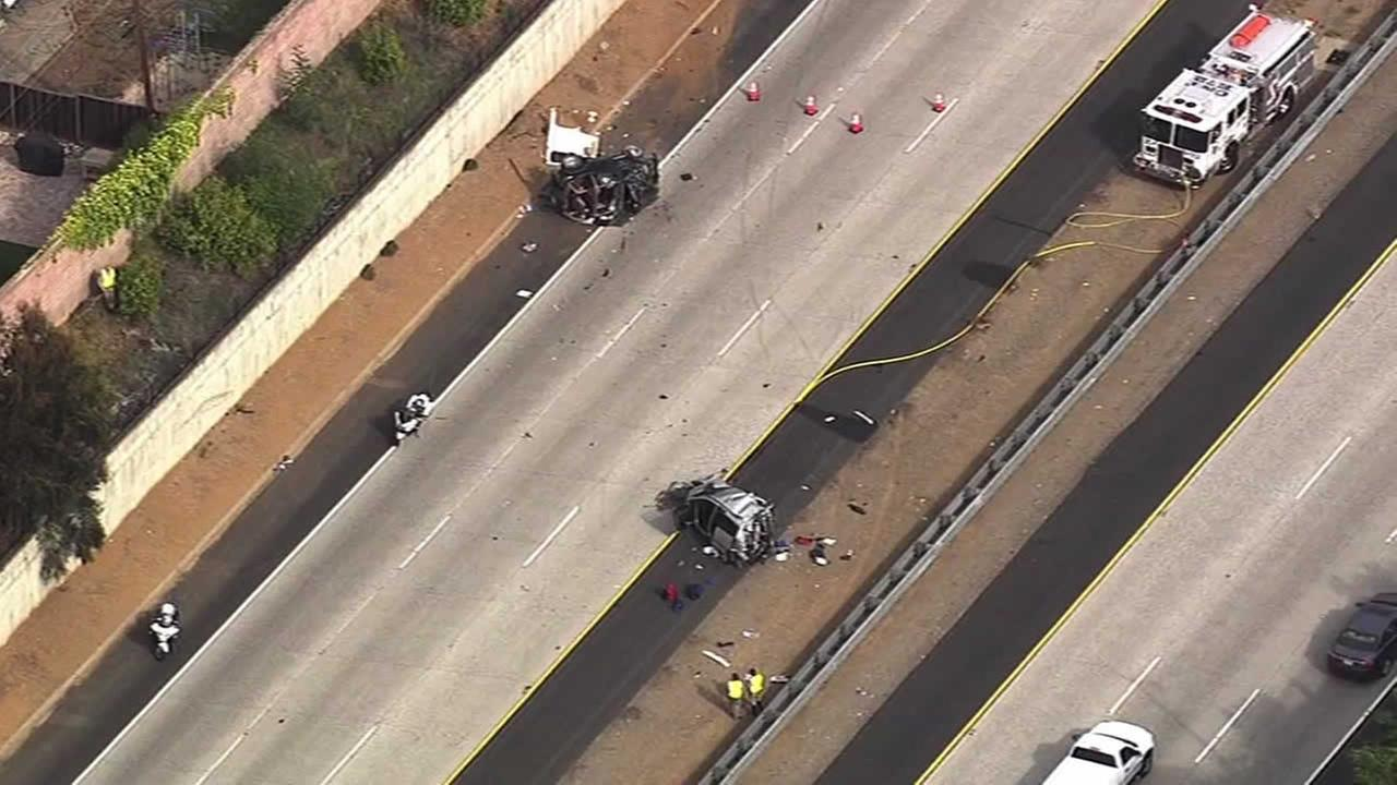 An 8-year-old girl died and her mother and brother were injured in crash on Highway 85 in Cupertino, Calif. on April. 21, 2014.