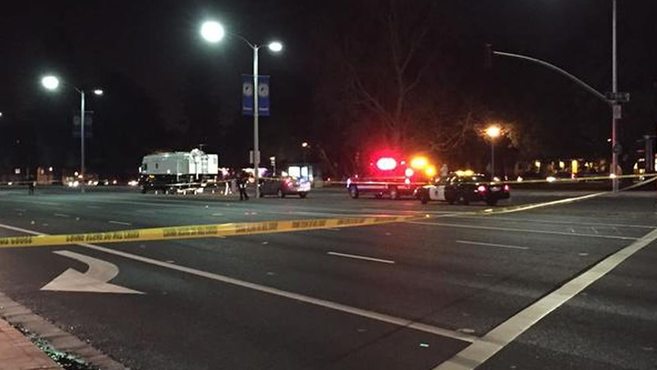 police investigate after shooting at El Camino Real and South Wolfe Road in Sunnyvale