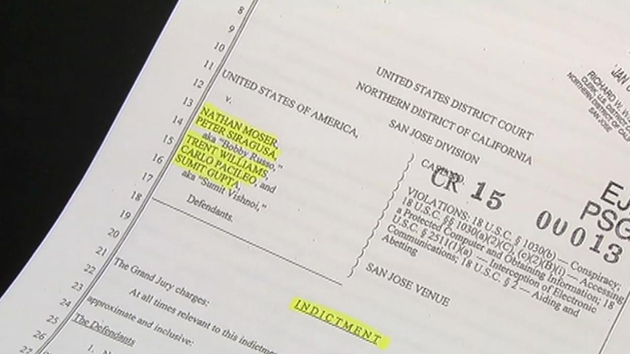 An indictment shows former San Francisco Police Department Officer Peter Siragusa and four others are accused of corporate espionage.