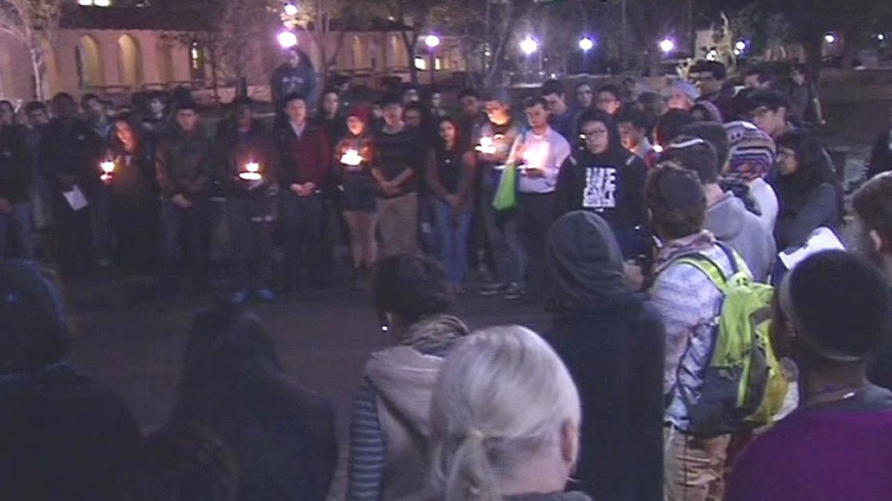 Vigil held at Stanford for three NC students killed