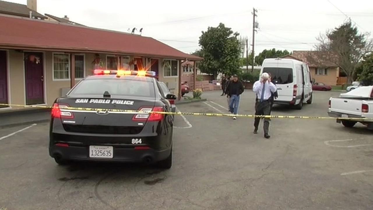 Police scene at the San Pablo hotel
