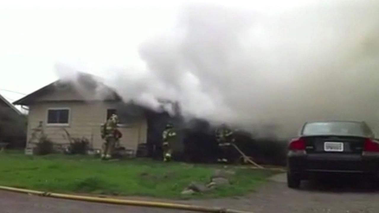 firefighters respond to house fire