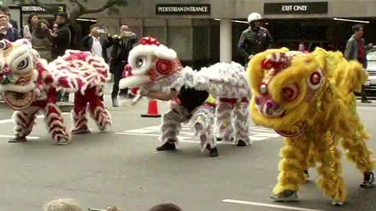 Lunar New Year Parade dancers are seen in San Franciscos Chinatown on Feb. 19, 2015.