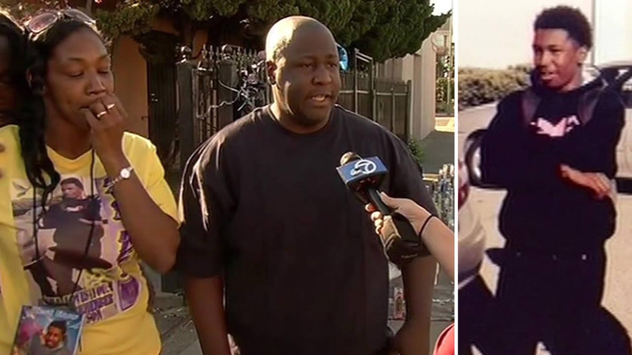 The parents of slain teen Davon Ellis spoke to ABC7 News in Oakland, Calif. on March 5, 2015.