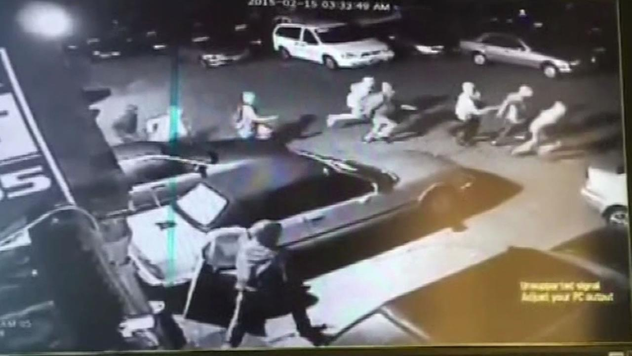 Police say a pack of thieves hit four car dealerships in one night in Fremont, Calif. on March 6, 2015.
