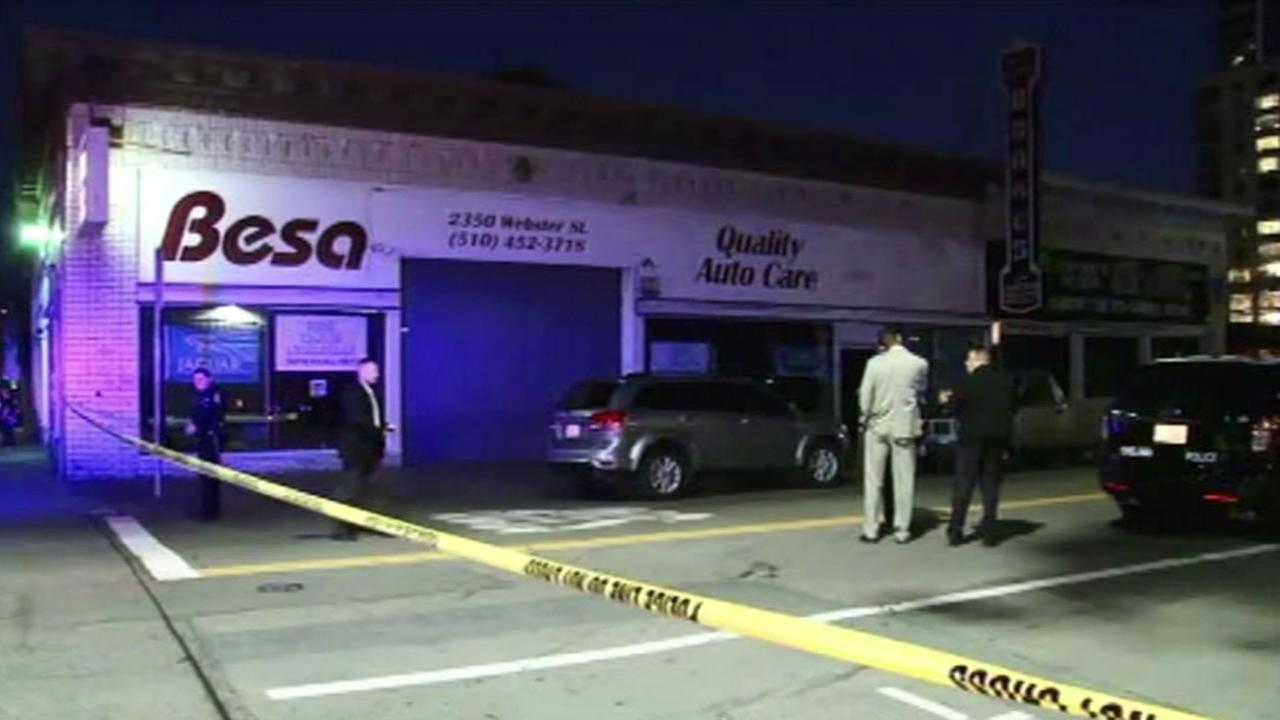 Police investigate fatal stabbing in Oakland, Calif. on March 7, 2015.