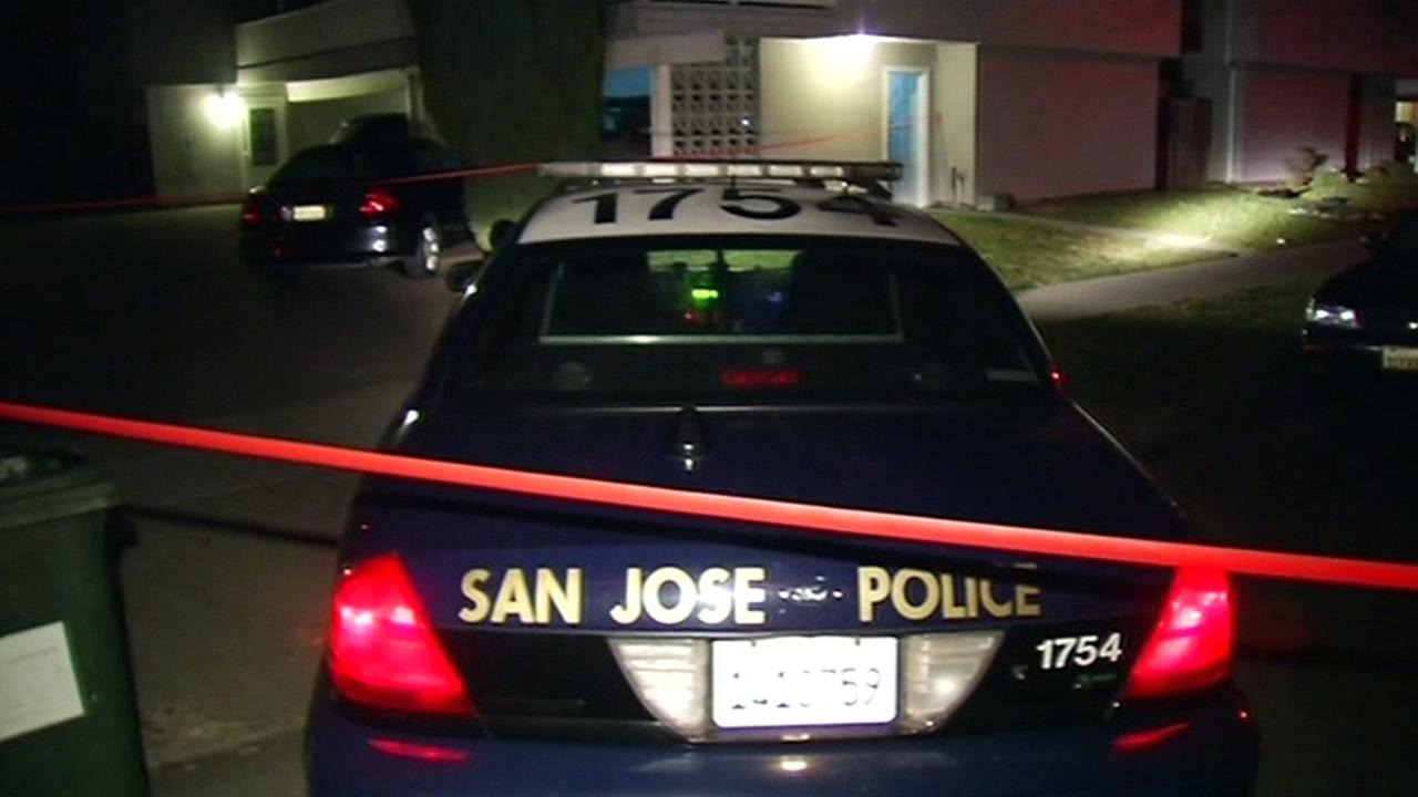 San Jose police crime scene.