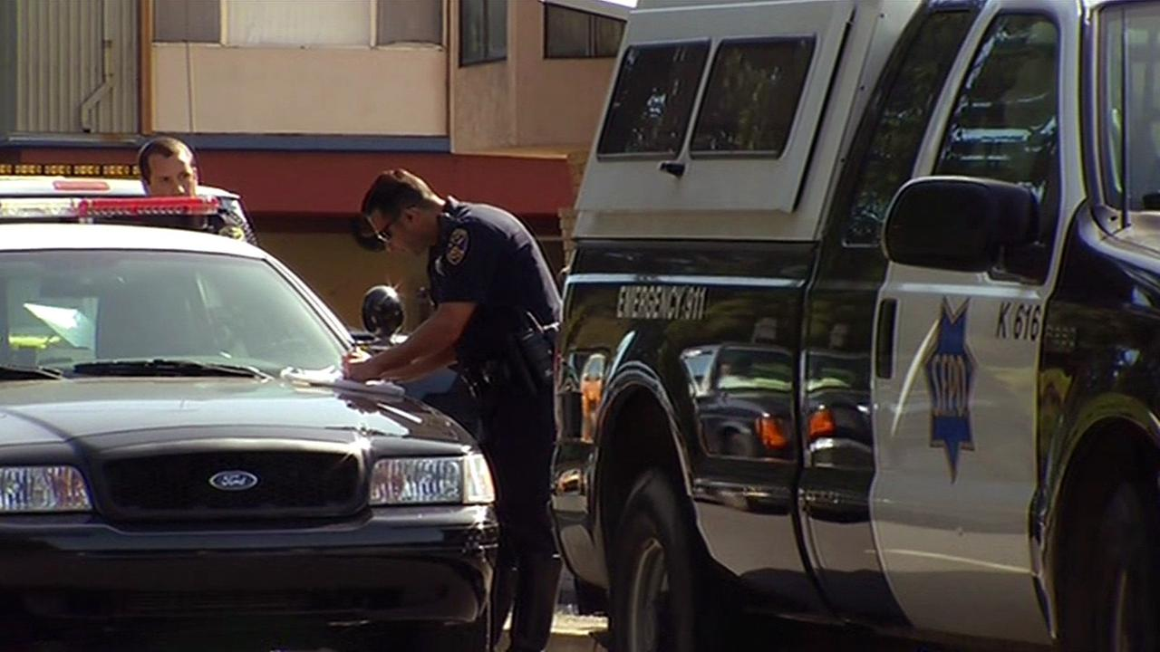 Fatal crash scene in San Francisco
