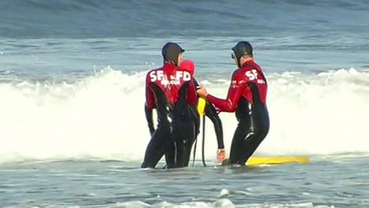 San Francisco Fire Departments new red and black wetsuits