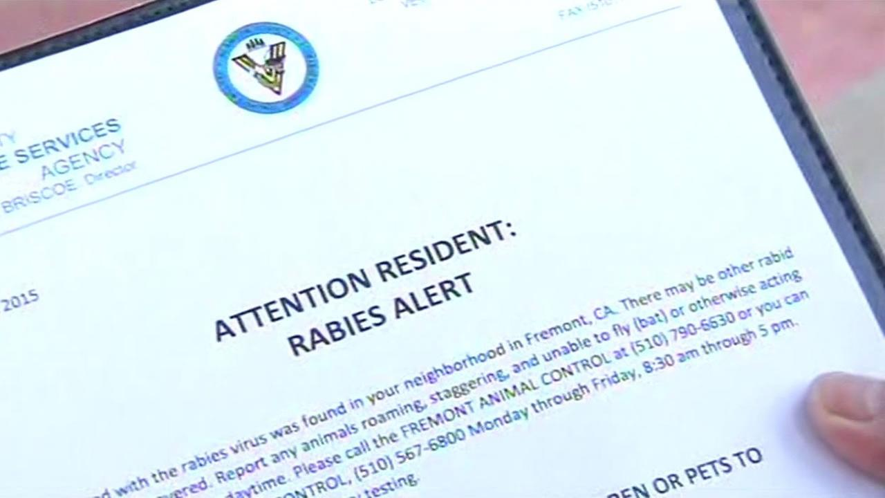 A notice alerting Fremont resident that two bats tested positive for rabies have been found near Fremont schools.