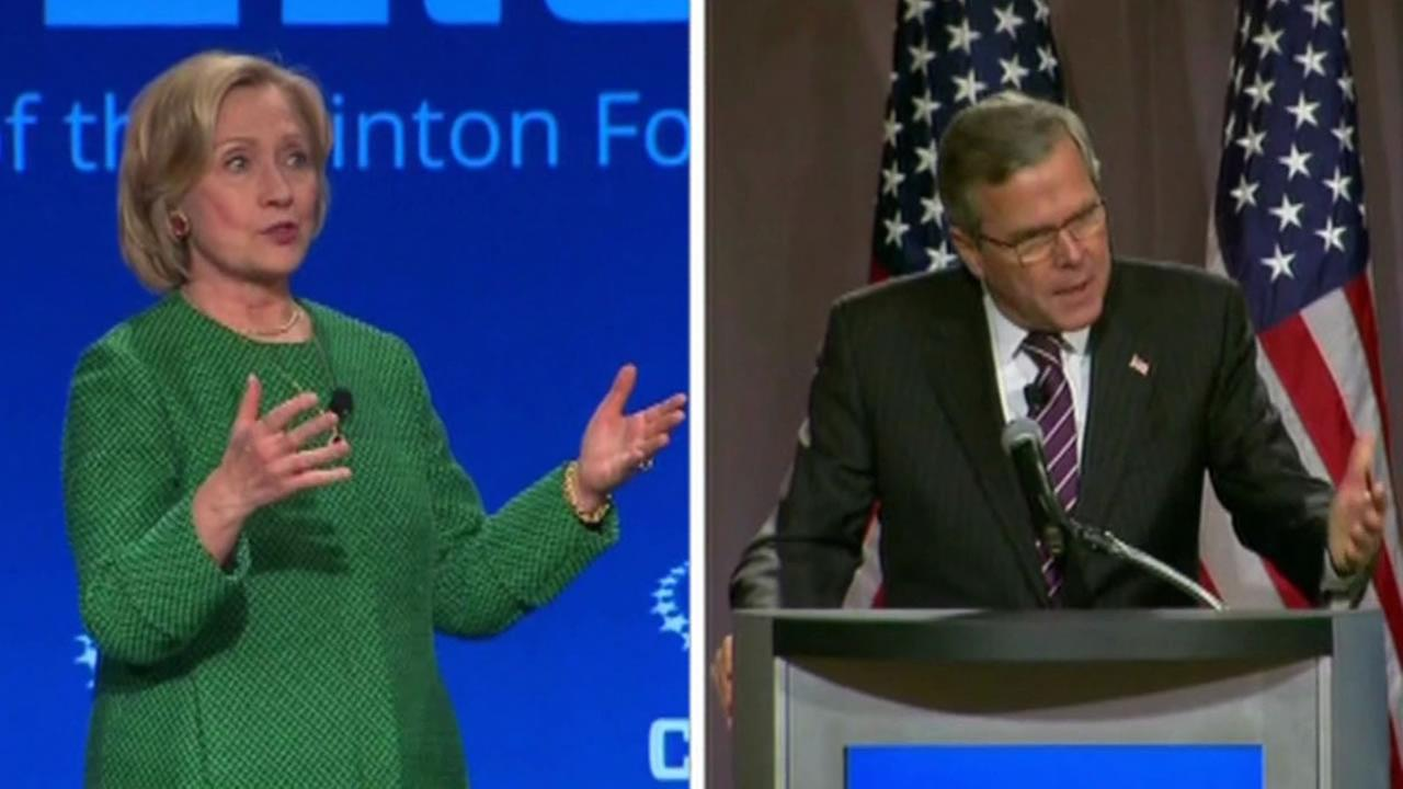 Hillary Clinton and Jeb Bush