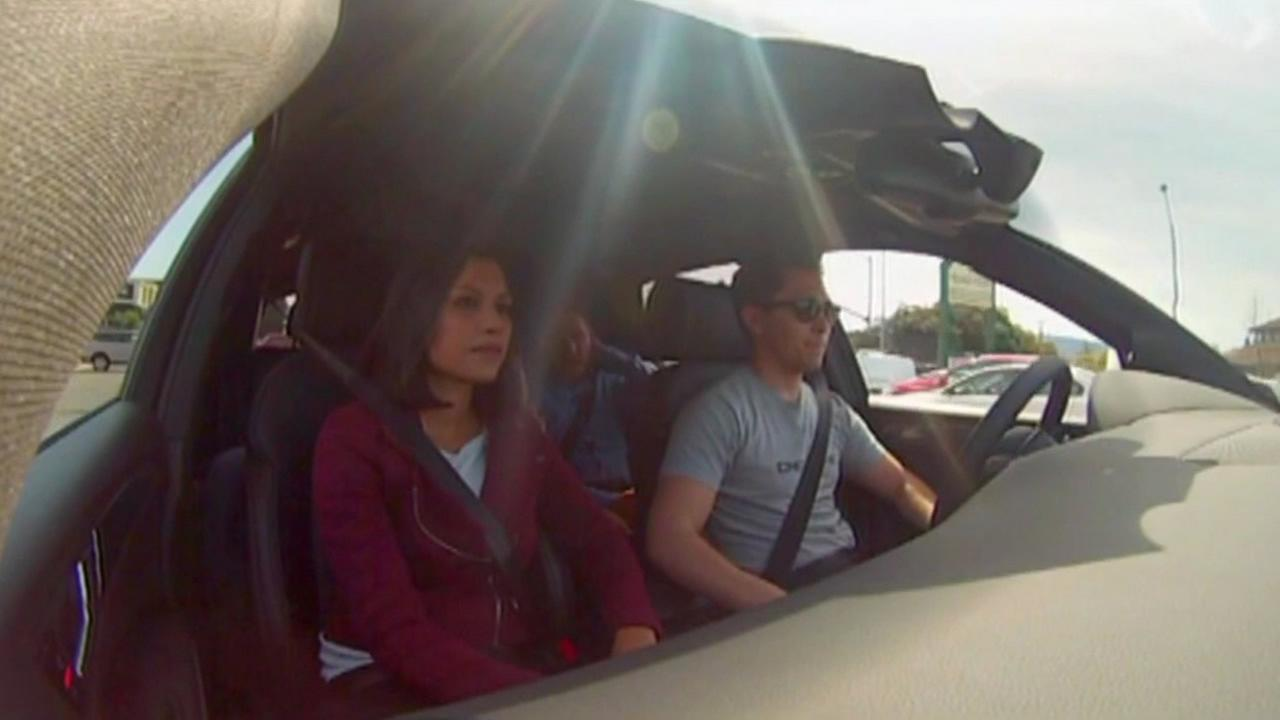 ABC News went for a test drive with Delphi Automotive in a driverless car in Mountain View, Calif. in March 2015.