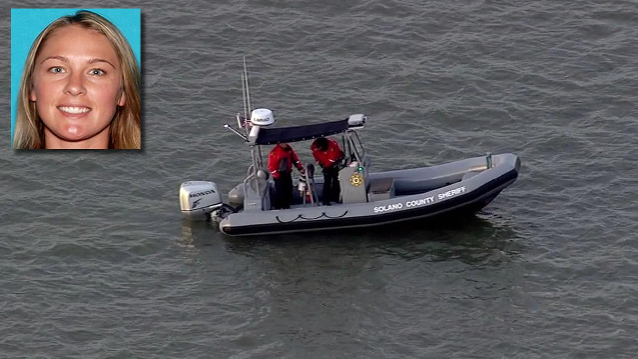 Tuesday evening crews searched the bay waters near Vallejo for any sign or clues in the case of a woman reportedly kidnapped, on March 23, 2015. (KGO-TV)