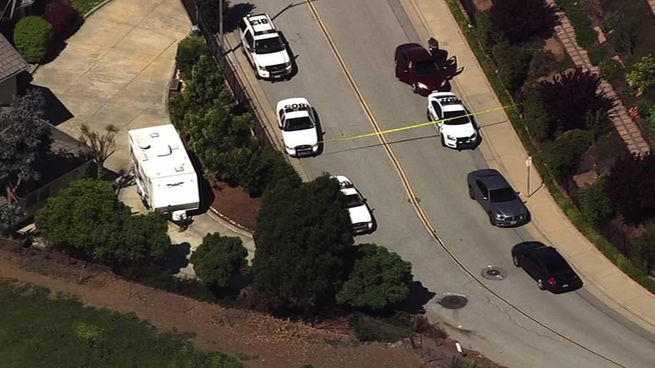 Santa Clara County sheriff deputies are searching Sweigert Road near East San Jose after a driver tried to run down a deputy.