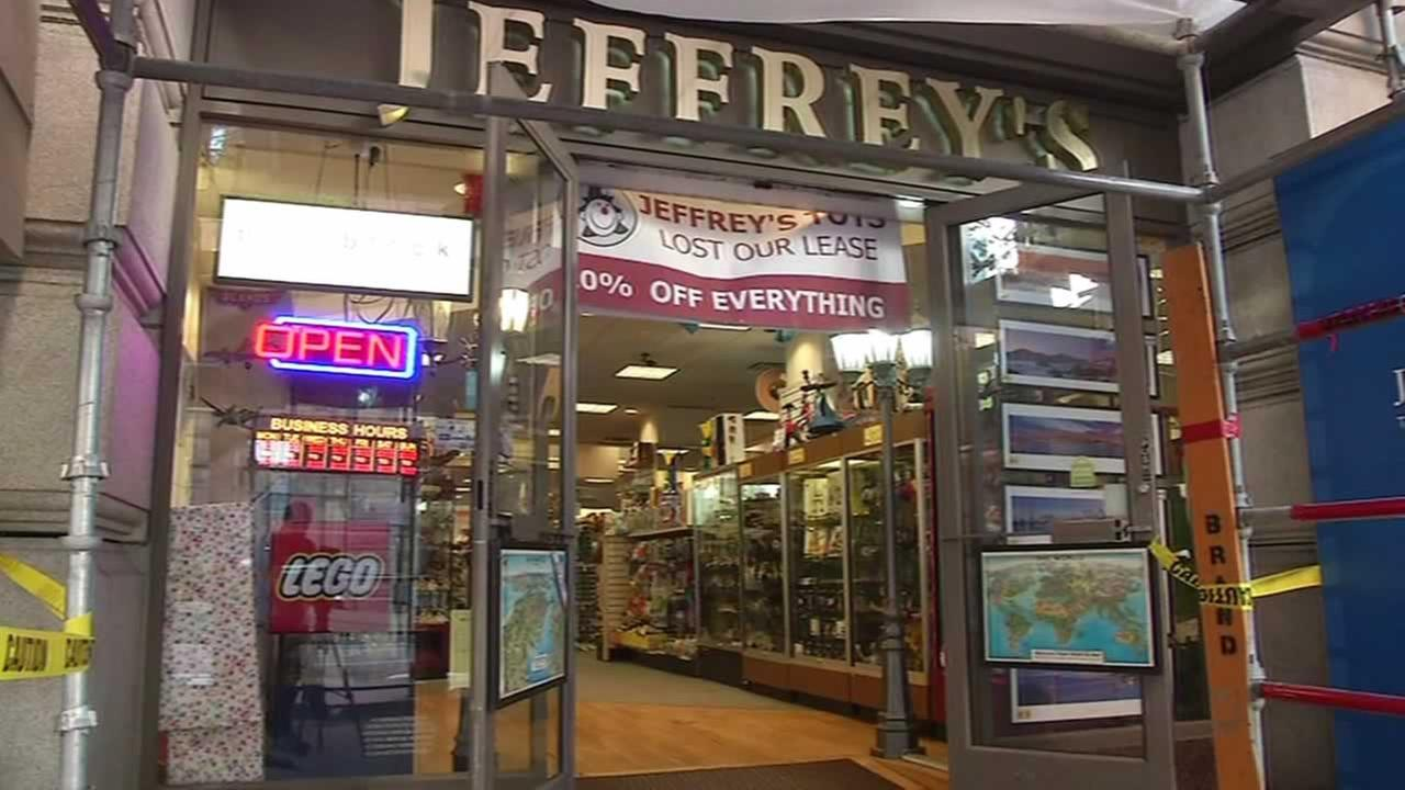 Toy store Jeffreys on Market Street in San Francisco closing because of rent increase