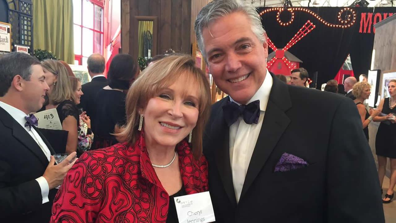 ABC7s Cheryl Jennings and Dan Noyes emceed a gala to benefit Novato-based nonprofit Camp Okizu in San Francisco on March 28, 2015.
