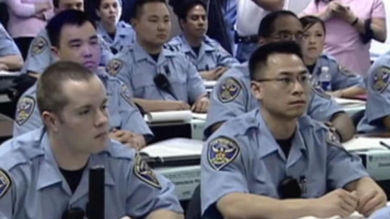 A class from the San Francisco Police Department Cadet Academy.
