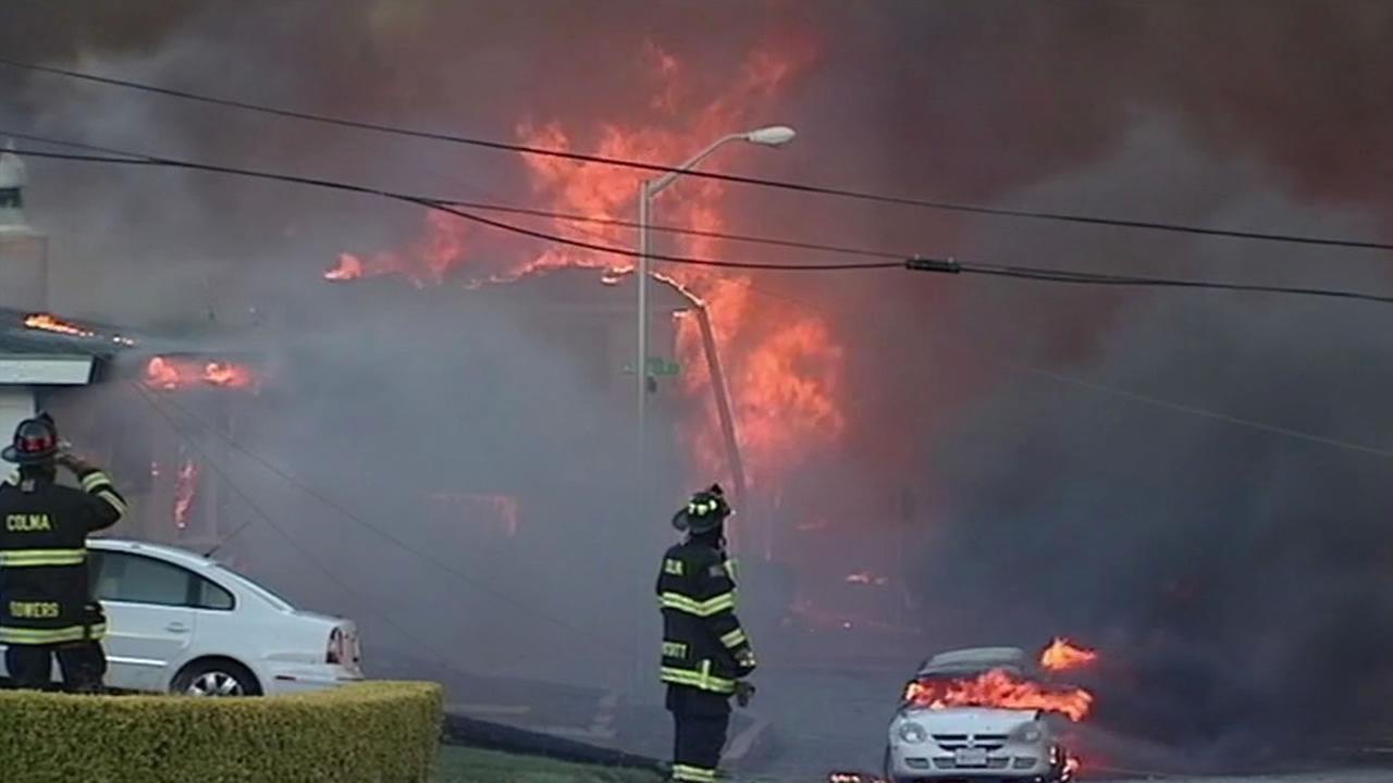 The San Bruno PG&E pipeline explosion disaster on September 9, 2010.