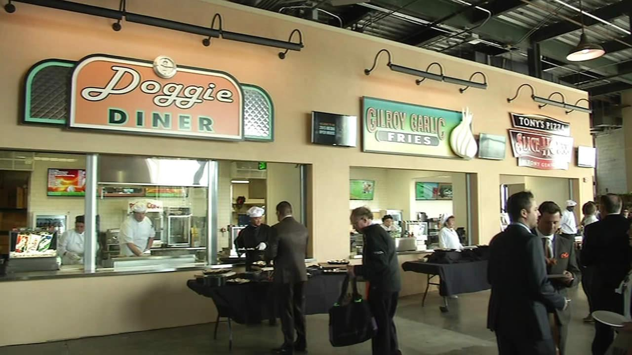The San Francisco Giants unveiled a new food court at AT&T Park in San Francisco on April 1, 2015.