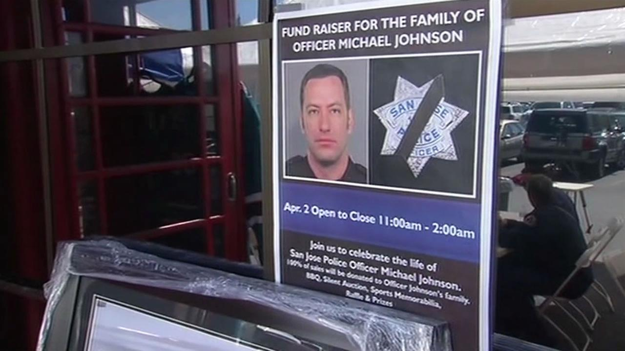The Britannia Arms held a fundraiser for the family of fallen Officer Michael Johnson in San Jose, Calif. on April 2, 2015.