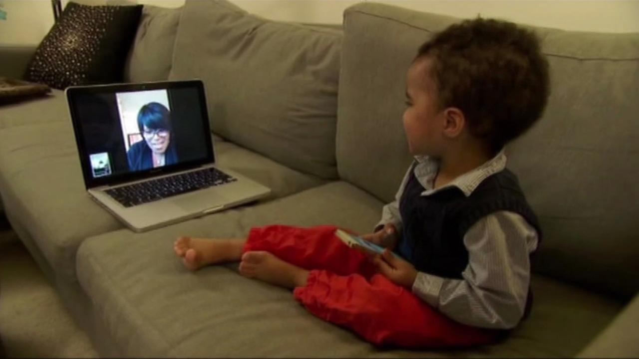 Baby in front of laptop