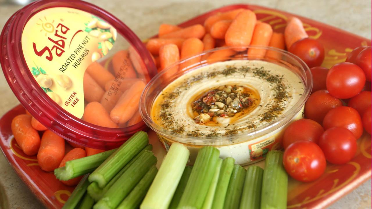 Sabra hummus with veggies