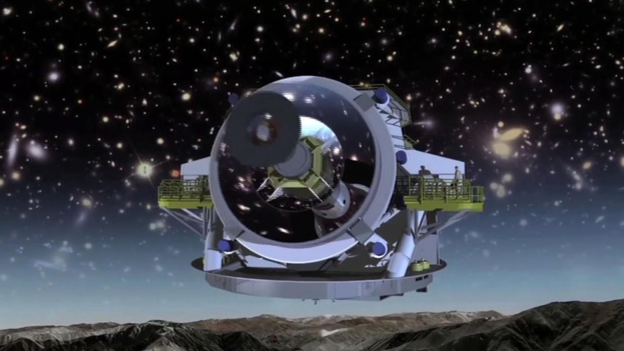3D rendering of a new telescope that will be built from the National Science Foundation to help scientists see areas of the universe they havent seen before