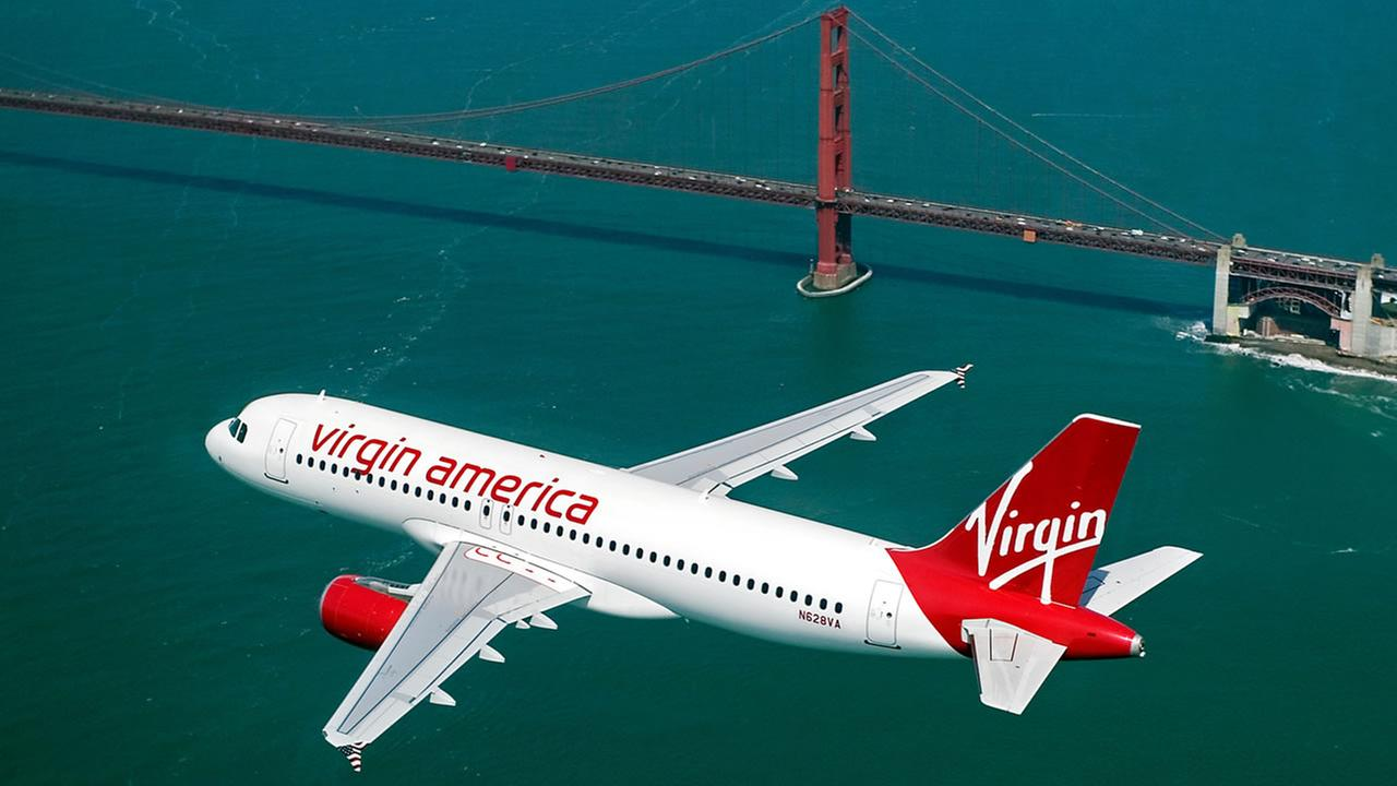 File photo from 2014 -- Virgin America named top domestic airline in travel. (PRNewsFoto/Virgin America)