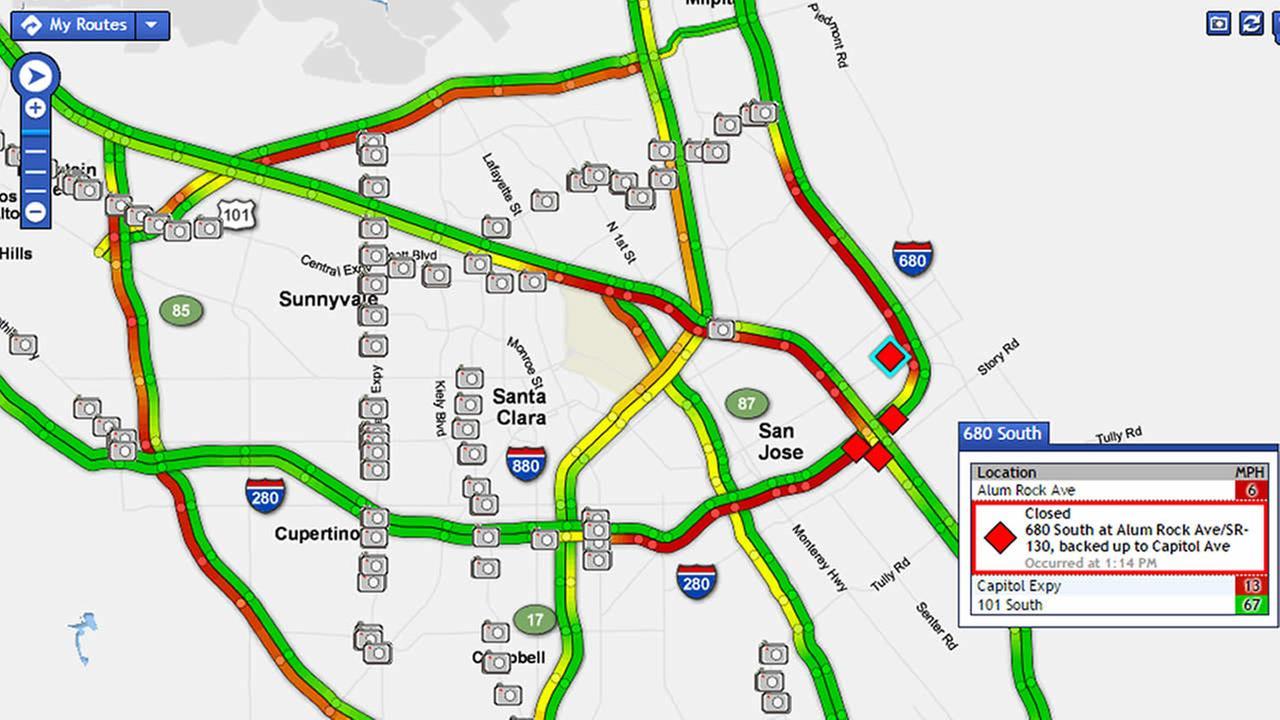 Bay Area traffic map
