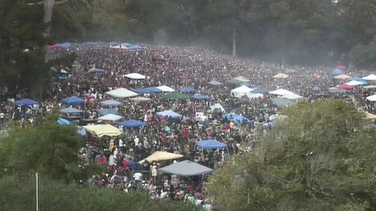 Hippie Hill in San Franciscos Golden Gate Park on 4/20 2015