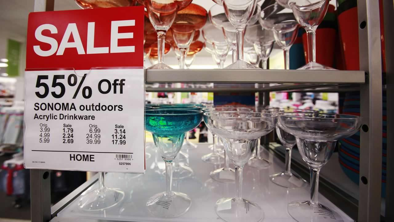 In this May 10, 2010 file photo, sale items are shown on display at a Kohls store in Millbrae, Calif. (AP Photo/Paul Sakuma, file)