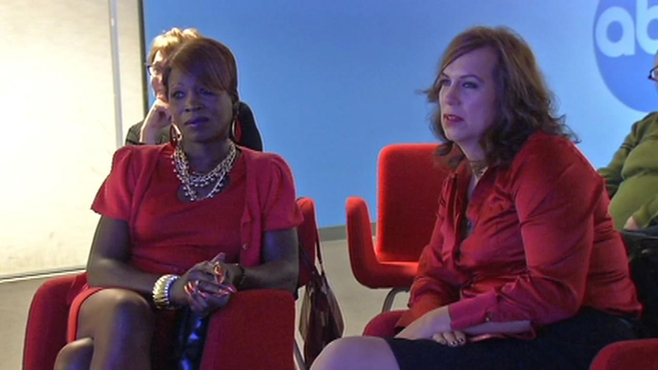 women watch interview