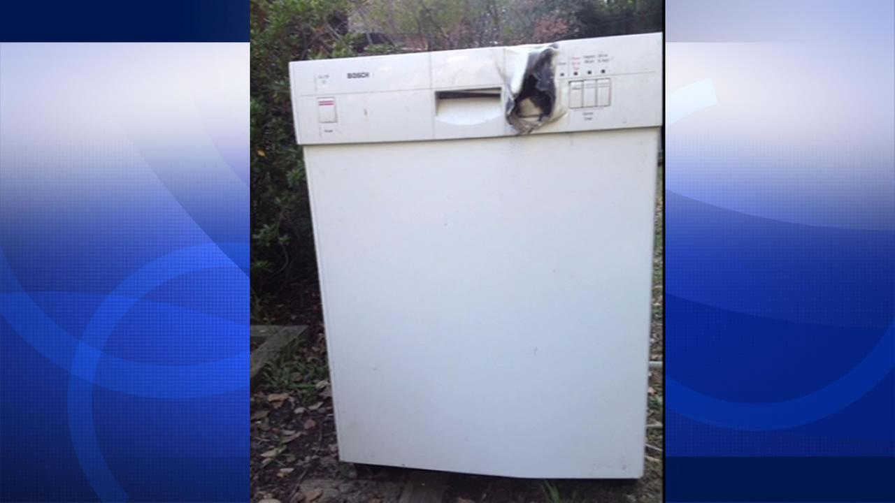 dishwasher that caught fire