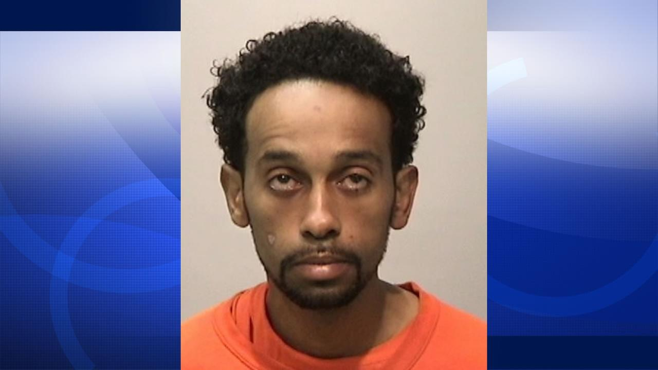 Solomon Alemu was arrested after he allegedly stole a car with an infant inside in San Franciscos Tenderloin District, April 29, 2015.