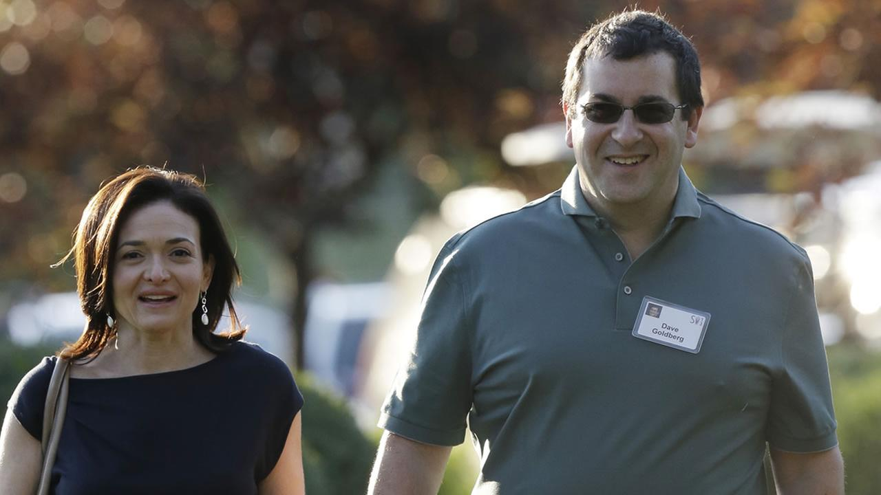 Sheryl Sandberg, COO of Facebook, and her husband David Goldberg in Sun Valley, Idaho, Wednesday, July 10, 2013.