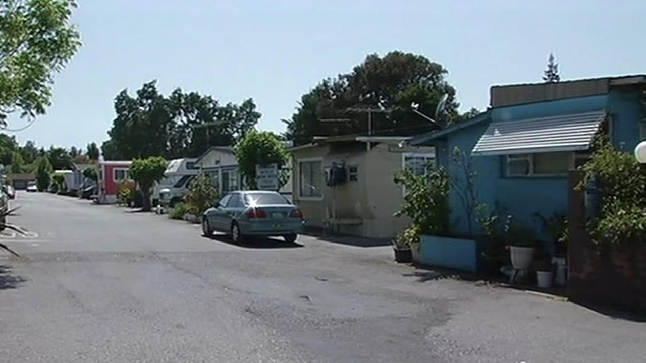 FILE: 400 residents of the Buena Vista Mobile Home Park in Palo Alto are facing eviction because the owner wants to sell the land for development.(KGO)