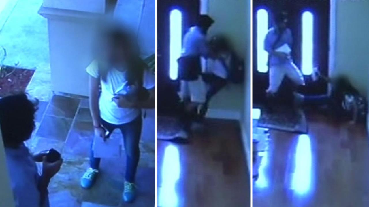 Police say a man chased a 13-year-old girl into her own home and attacked her in San Jose, Calif. on May 2, 2015.
