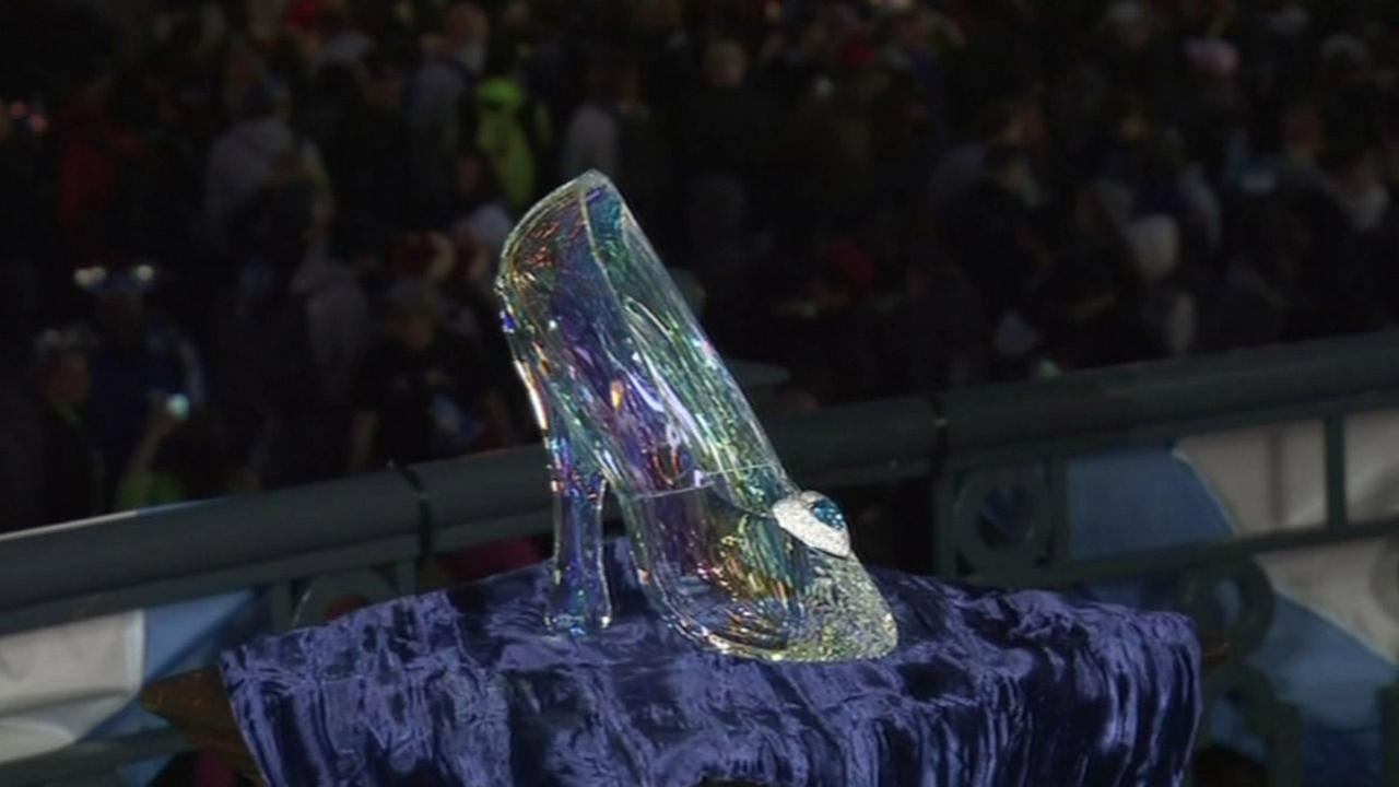 Crystal shoe at Disneyland