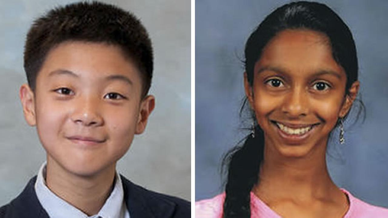 Meera Suresh, 12, and Timothy Yue, 13, are competing in the Scripps National Spelling Bee in Washington D.C. starting Wednesday, May 27, 2015.