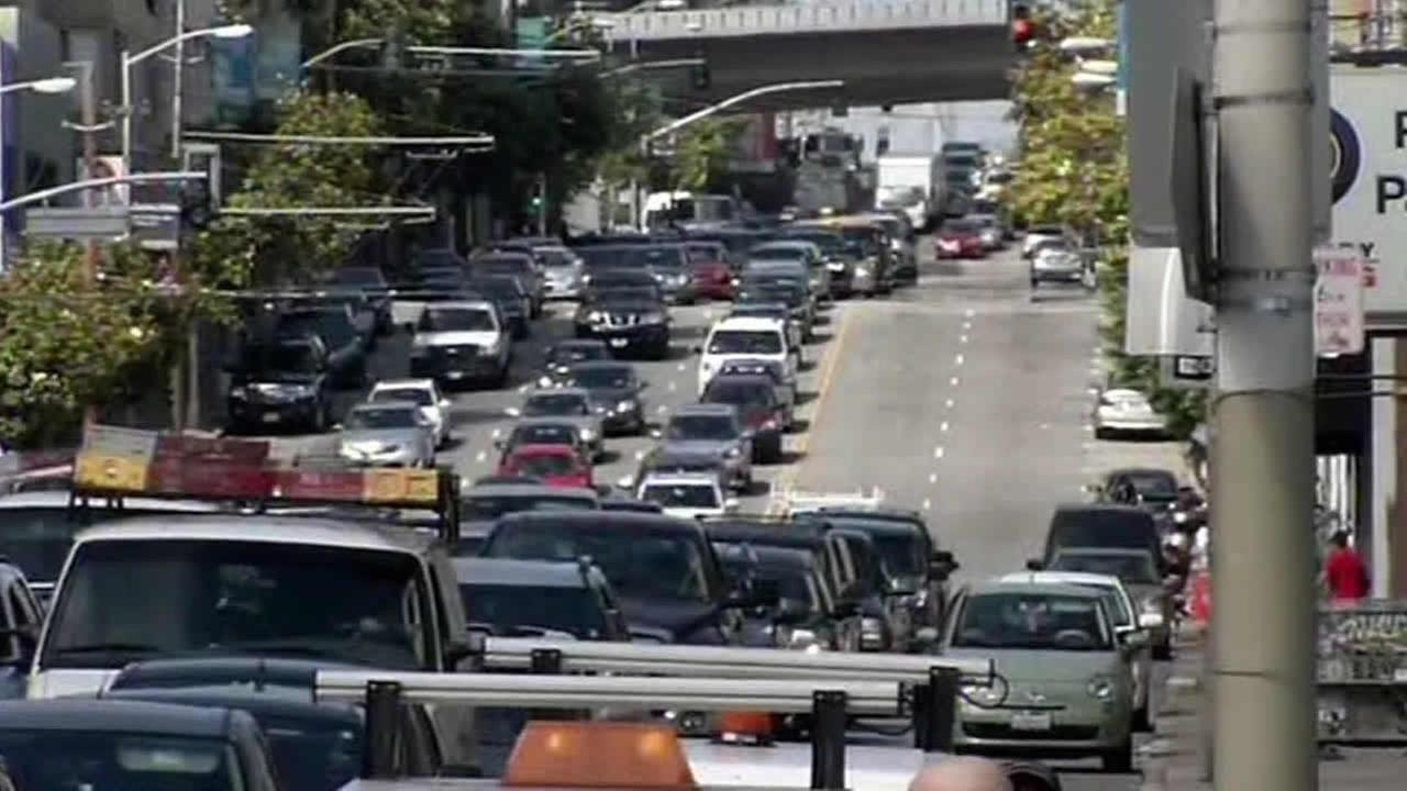 traffic backup in San Francisco