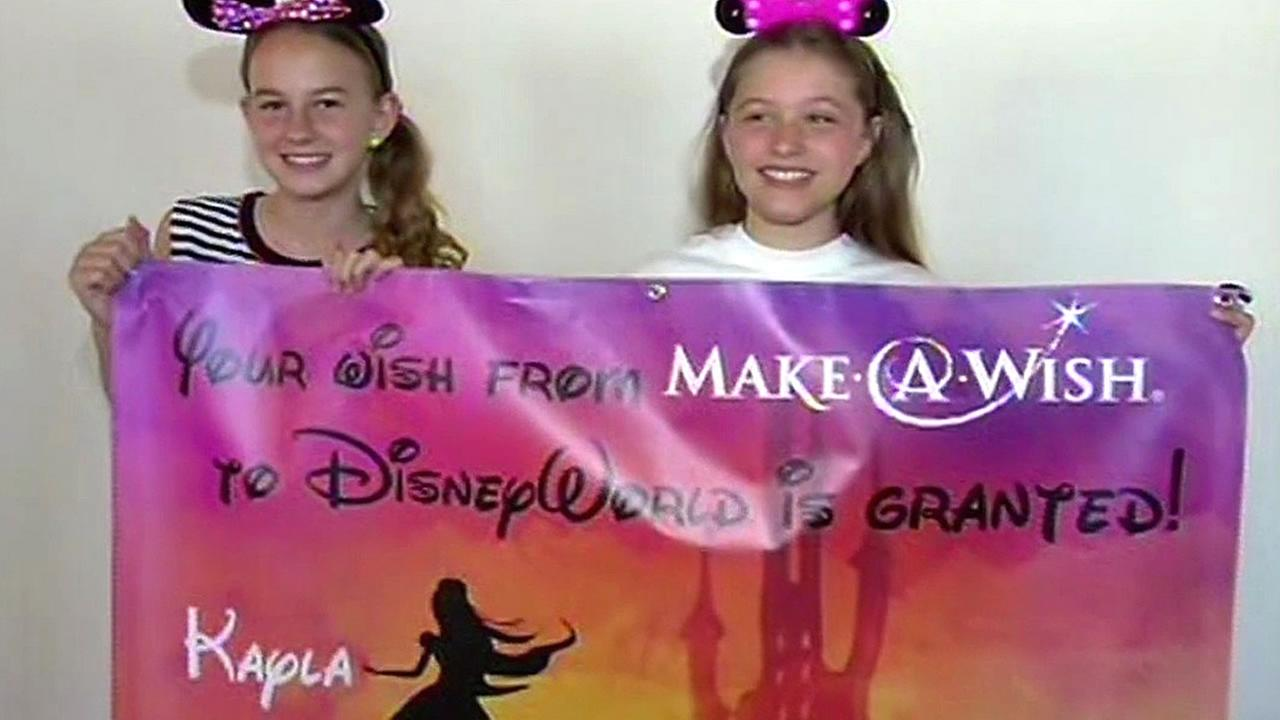 Kayla Andrade of Dublin has her wish from Make-A-Wish granted