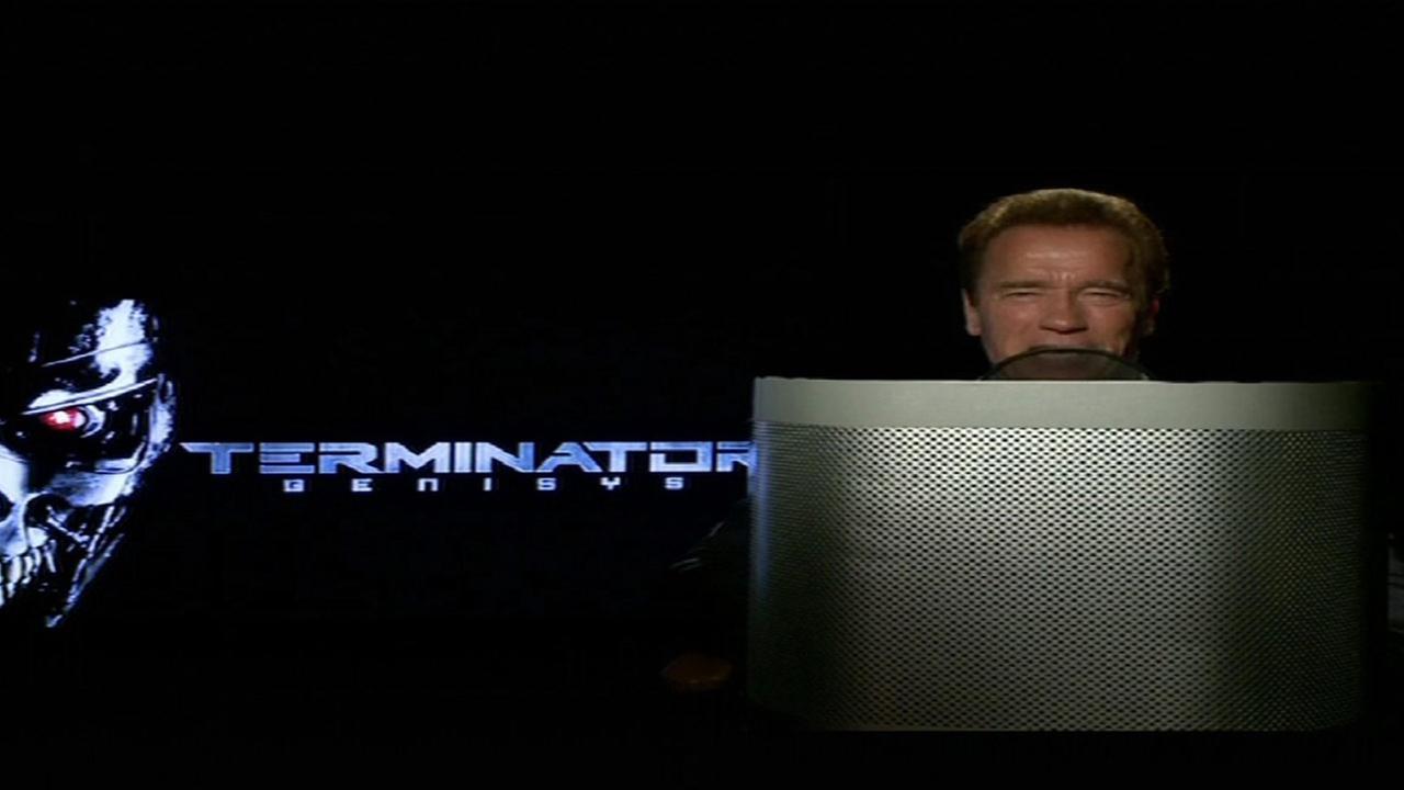 Arnold Schwarzenegger Terminator voice used on Waze traffic app.
